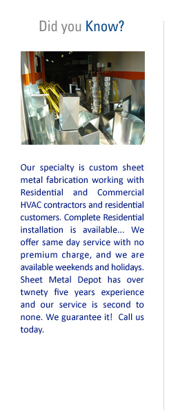 Sheet Metal Depot Toronto Com Ductwork And Fittings